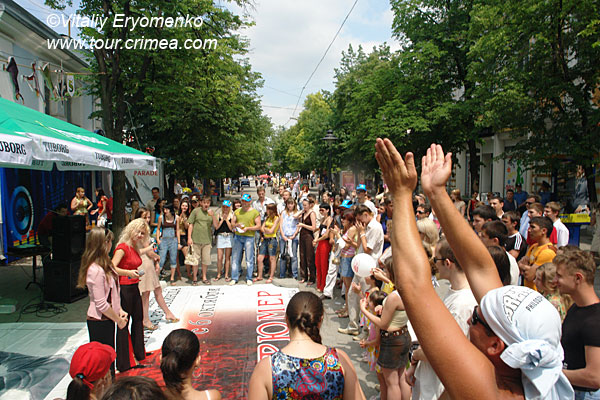 Празднование дня города в Симферополе  - фоторепортаж.